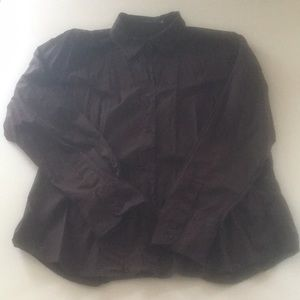 The Limited Brown Button Down XL